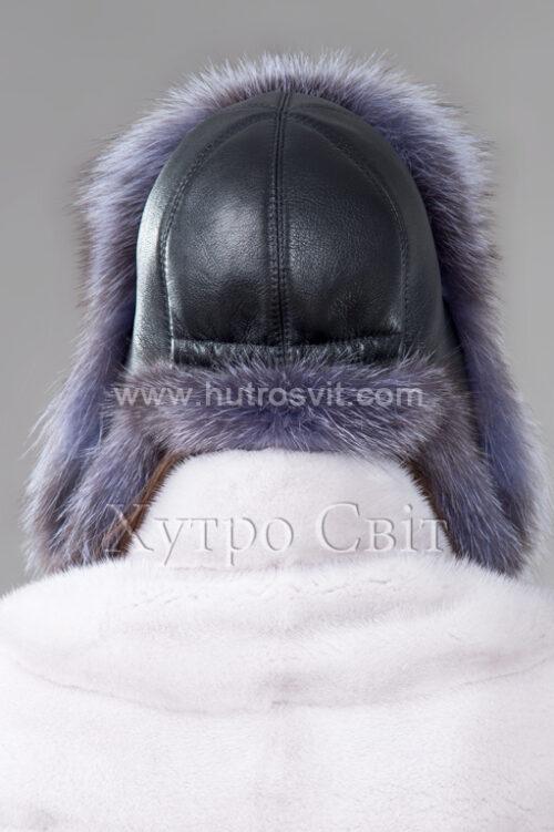 продукция производителя  ХутроСвіт Тисмениця 2021 Зимняя шапка ушанка из блу фроста, фото 3