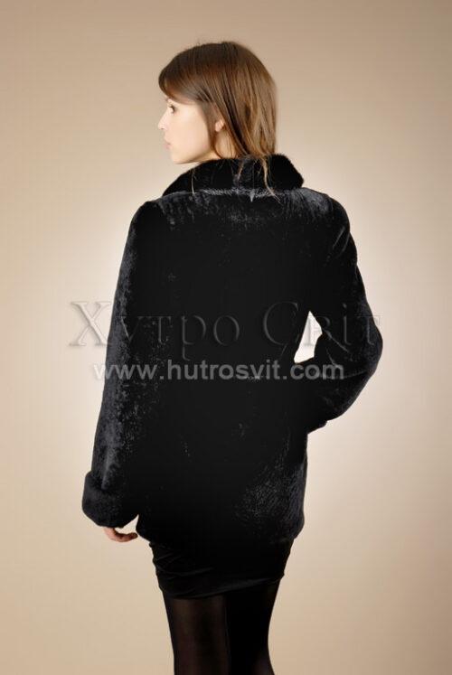 Шубы мутон. Мутоновая курточка-полушубок, шалевый норковый воротник и пояс., фото 3