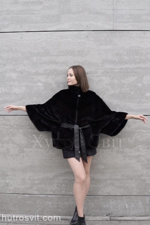 продукция производителя  ХутроСвіт Тисмениця 2021 Норковая курточка с воротником стойка, пошита из канадского меха Нафа Фото 1