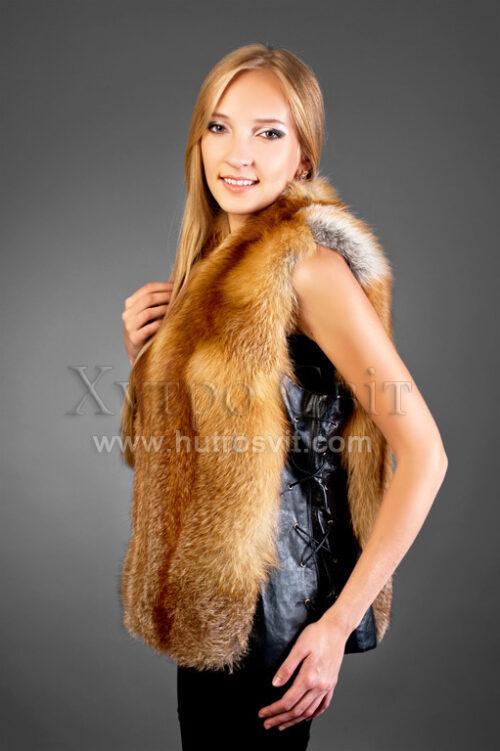 Жилет из меха рыжей лисы, фото 1
