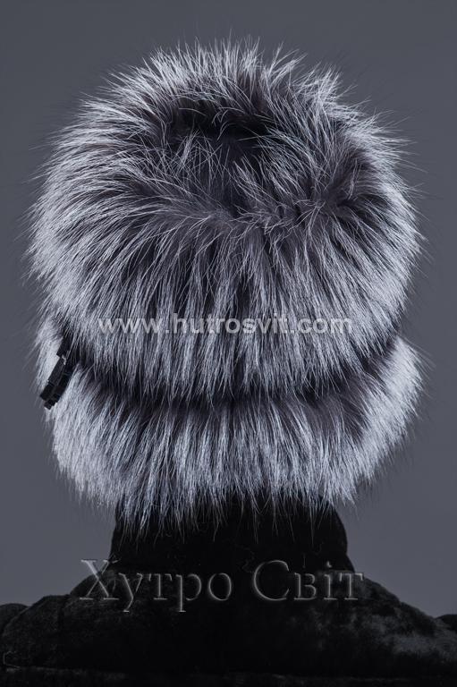 Вишукана жіноча шапка із хутра чорнобурки Фото 2