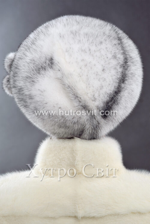 продукция производителя  ХутроСвіт Тисмениця 2021 Берет – скандинавская норка крестовка, фото 2