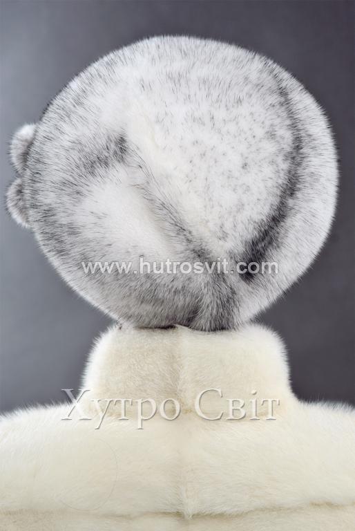 продукція виробника ХутроСвіт Тисмениця 2020 Хутряний берет із норки хрестовки Фото 2