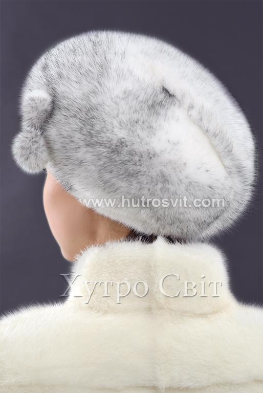 продукція виробника ХутроСвіт Тисмениця 2020 Хутряний берет із норки хрестовки Фото 3
