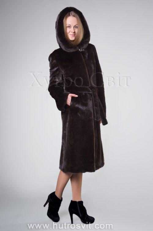Шуба з капюшоном із норки Блекглама, фото 1
