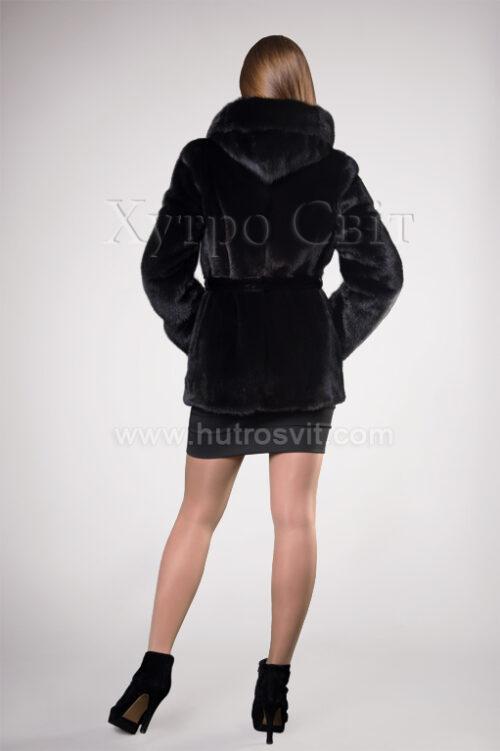 Півшубок норковий з капюшоном із аукціонної скандинавської норки, фото 1