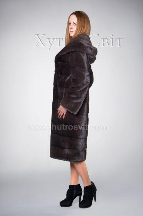 Шуба норкова Блекглама з капюшоном від ХутроСвіт Тисмениця, фото 2