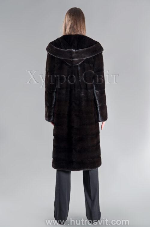 Шуба норкова Блекглама з капюшоном від ХутроСвіт Тисмениця, фото 3