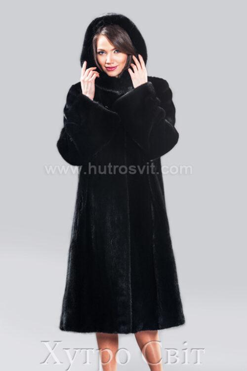 Норковые шубы от ХутроСвит Тысменица.Модель длинная шуба с капюшоном., фото 1