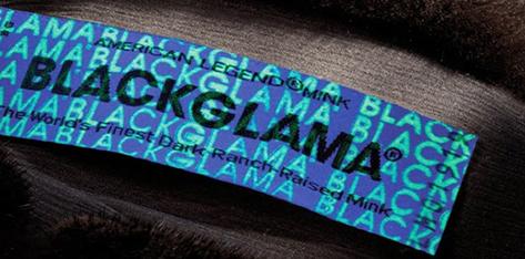 Етикетка Блекглама під ультрафіолетовим освітленням