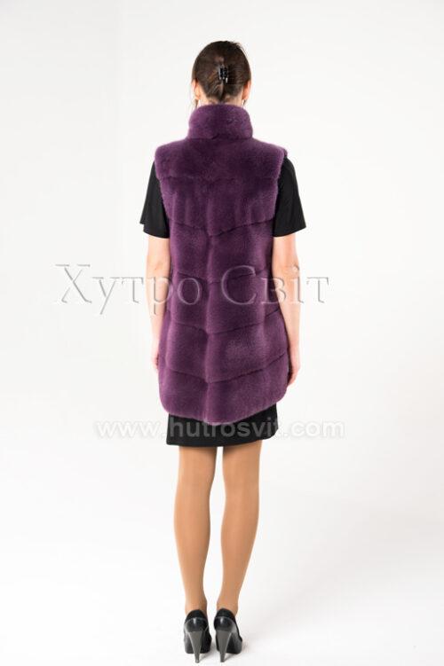Норкові жилетки від ХутроСвіт Тисмениця.Модель фіолетового кольору., фото 4