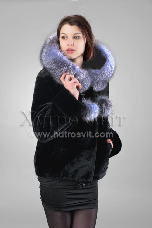 Курточка мутон, на капюшоне - Blue Frost,, фото 4