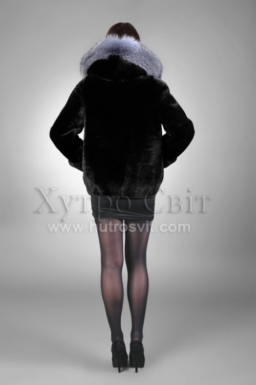 Курточка из мутона, кулиска, капюшон, опушка,, фото 5