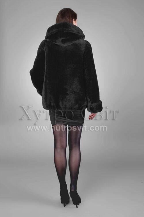 Шуби із мутону, модель курточка куліска з капюшогном,, фото 8