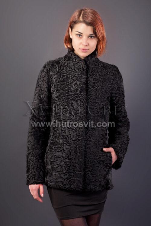 Півшубок (курточка) із каракулю з коміром стійка,, фото 1