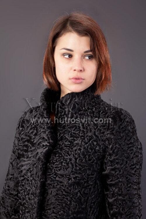 Півшубок (курточка) із каракулю з коміром стійка,, фото 2