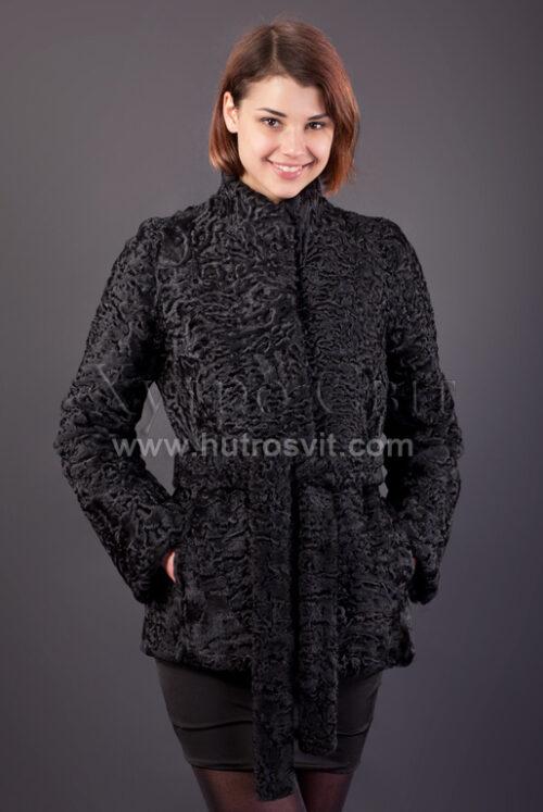 Півшубок (курточка) із каракулю з коміром стійка,, фото 3