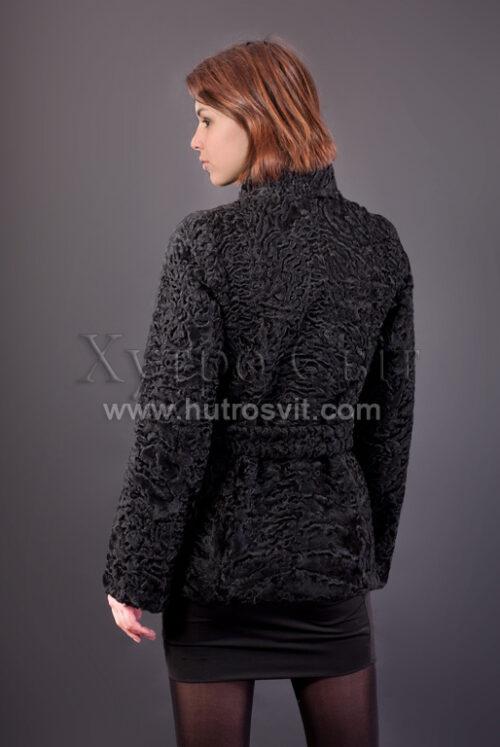 Півшубок (курточка) із каракулю з коміром стійка,, фото 4