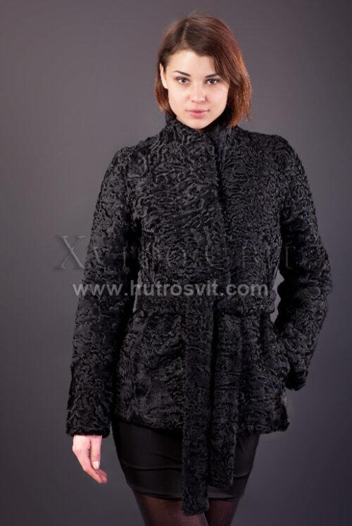 Півшубок (курточка) із каракулю з коміром стійка, Фото 1