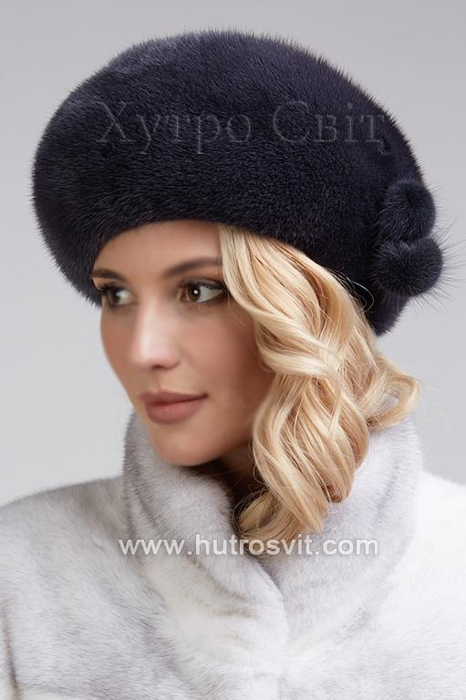 жіночі шапки - норкові берети