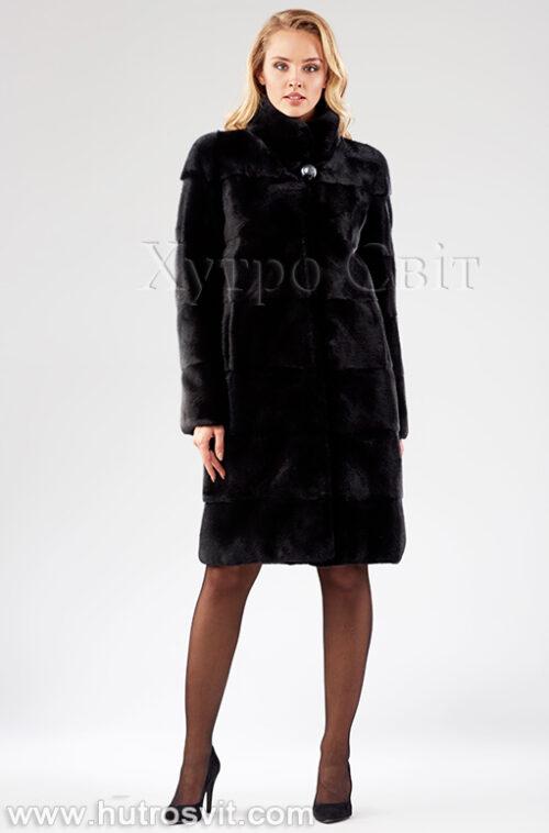 Шуба поперечка из датской норки - одна из самых продаваемых моделей, фото 1