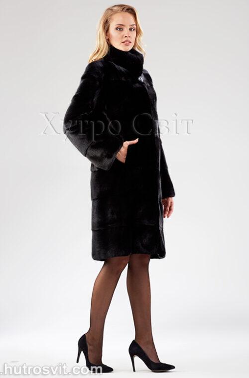 Шуба поперечка из датской норки - одна из самых продаваемых моделей, фото 2