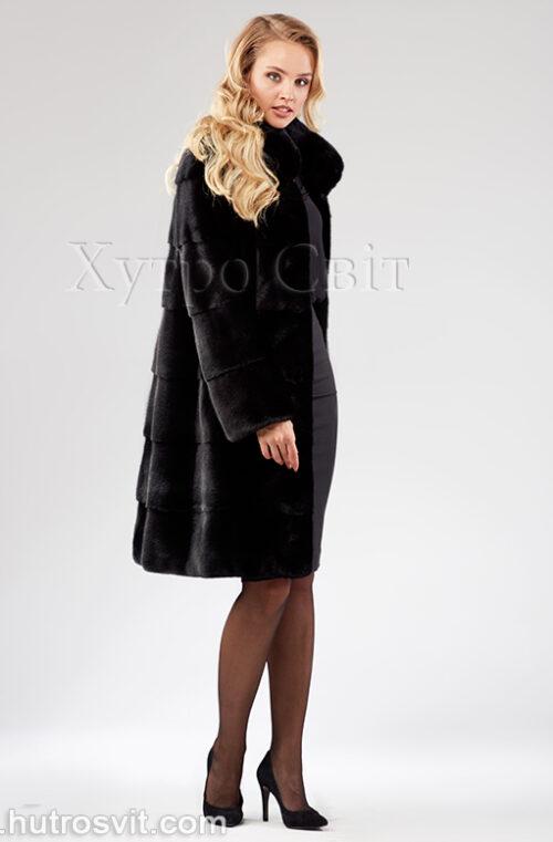 Шуба поперечка из скандинавской норки - одна из самых продаваемых моделей, фото 5