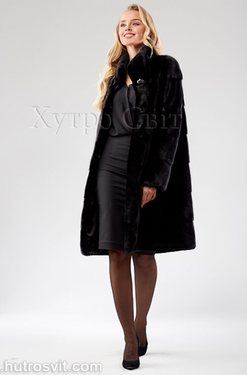 Шуба поперечка из скандинавской норки - одна из самых продаваемых моделей, фото 6