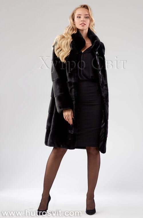 Шуба поперечка из скандинавской норки - одна из самых продаваемых моделей, фото 7