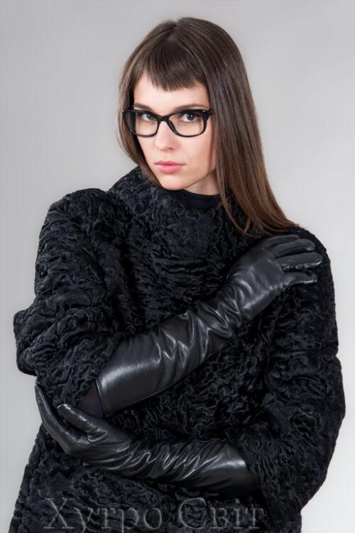 продукция производителя  ХутроСвіт Тисмениця 2021 Зимние длинные утепленные перчатки, фото 2