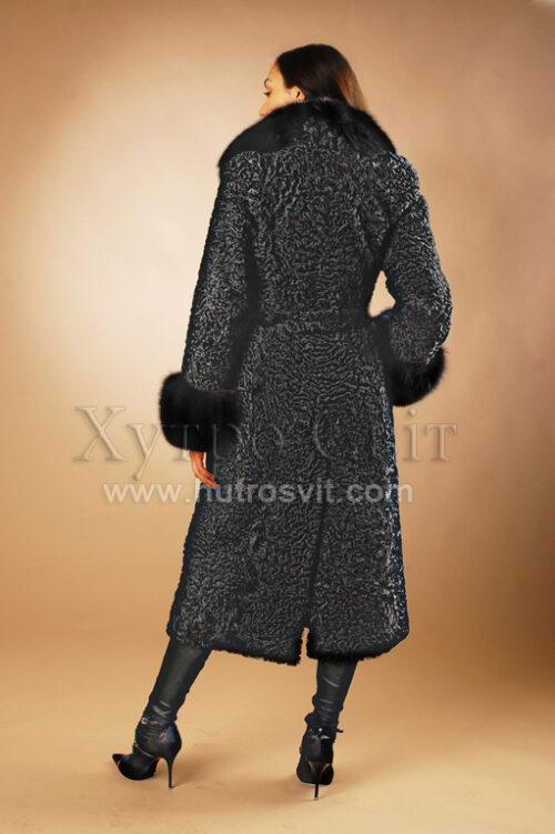Шуба-пальто: хутро-каракуль + англійський комір песець, фото та ціни на каракулеві шуби київ,, фото 2