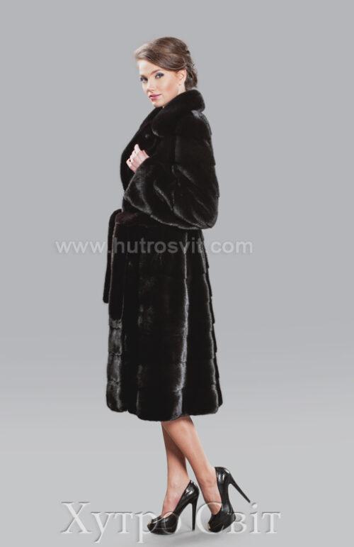Шубы Блэкглама, модель поперечка с английским воротником. Цены Тисменица, фото 4