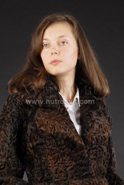 шуба-пальто - мех каракуль Фото 1