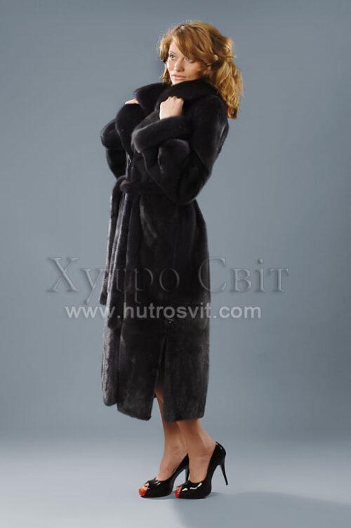 пальто - шуба норковая графит, фото 3