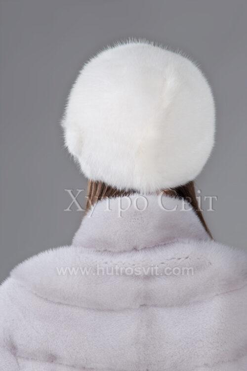 ХутроСвит представляет меховую шапку из белой норки в форме шарик,, фото 4